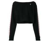 Cropped-Sweatshirt mit Logo-Streifen