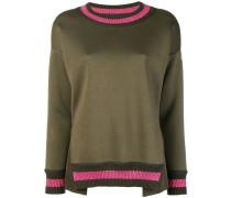 Gestreifter Lurex-Pullover