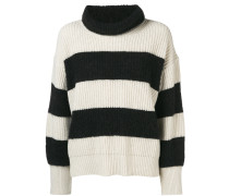 striped turtleneck knit
