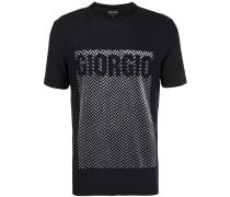 herringbone logo T-shirt