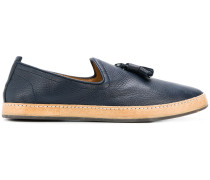 slip-on tassel loafers