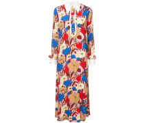 Kleid mit spitzem Kragen