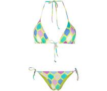 Bikini mit geometrischem Print