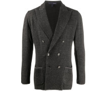 double-breasted patch pockets blazer