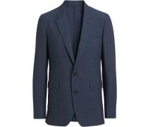 Windowpane Stretch Wool Tailored Jacket