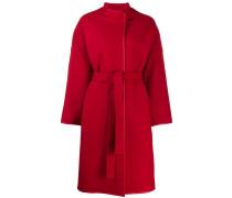 Mantel mit Lederbesatz