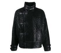Shearling-Jacke im Oversized-Design