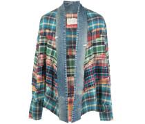 denim trim patchwork jacket