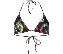 Bikinioberteil mit Patchwork-Print