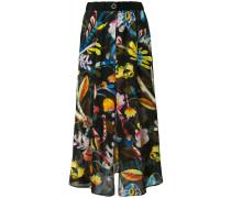 high-waisted floral skirt