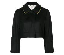 Cropped-Jacke mit verziertem Kragen