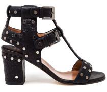 Benietete Sandalen mit Blockabsatz