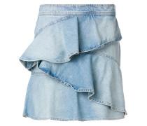 Jeans-Minirock mit Rüschen
