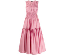Gerafftes Popeline-Kleid