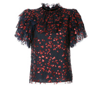 sequin embellished ruffle top