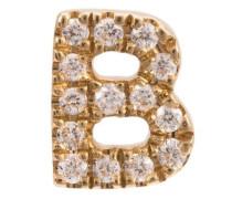 'B' Buchstabenanhänger mit Diamanten