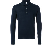 fine knit polo sweater