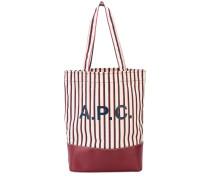 A.P.C. Gestreifter Shopper mit Logo