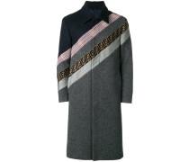 striped formal coat