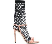 crystal fishnet sandals