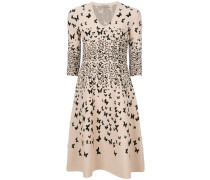 butterfly fit and flare dress
