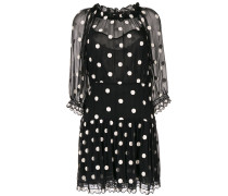 Kleid mit aufgestickten Punkten