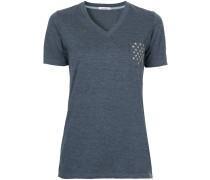 T-Shirt mit sternförmigen Nieten