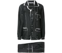 tie-dye two-piece suit