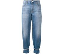 Tapered-Jeans mit Riemen