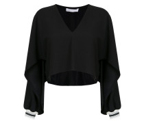long sleeves panelled blouse