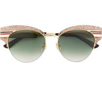 Cat-Eye-Sonnenbrille mit Glitter