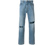 slashed detail jeans