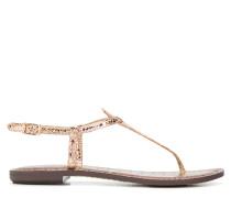 snakeskin effect sandals