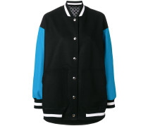 Oversized-Bomberjacke in Colour-Block-Optik