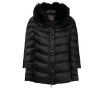fur trimmed puffer jacket