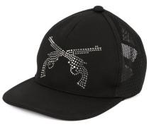 logo embellished baseball cap