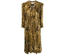 'Saha' Kleid mit Schlangenleder-Print