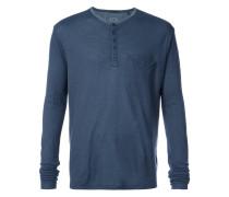 half button placket shirt
