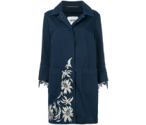 lace trim floral embroidered coat