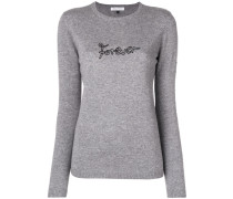 'Forever' embroidered sweater