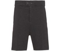 Structured cotton blend shorts