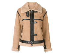 shearling fitted jacket