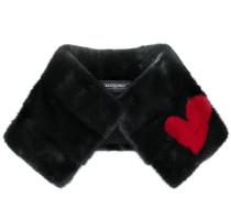 heart detail collar scarf