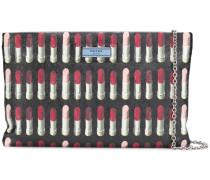 lipstick-print clutch