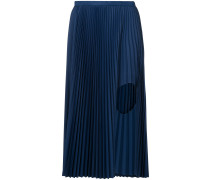 pleated cut out skirt