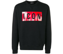 Sweatshirt mit ''Icon''-Print