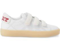 Sneakers mit dreifarbigen Riemen