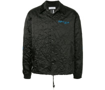 embroidered logo crinkle jacket