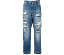 Jeans mit Camouflage-Detail