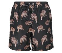 Tiger print swim shorts